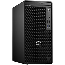 DELL OptiPlex 3080 MT - Intel i3-10100 4.3GHz, 8GB (1x8GB) RAM, M.2 256GB SSD PCIe NVMe, Intel Integrated, TPM, no CR, 8x DWDRW, no WLAN, VGA, miš, bez tipkovnice, Windows 10 Pro, 3Y