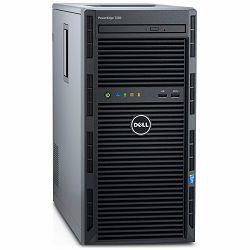 DELL EMC PowerEdge T130, Xeon E3-1225 v6 3.3GHz, 8M cache, 4C/4T, turbo(73W), Chassis up to 4x3.5in Cabled HDD, 4GB 2400MT/s, 1TB 7.2K RPM SATA HDD, DVDRW, iDRAC8 Basic, TPM 2.0, USB 3.0 x3, USB 2.0