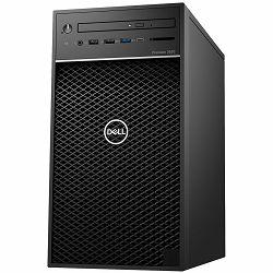 Dell Precision T3630 - Intel Xeon E-2124G 4.5Ghz, 1x8GB 2666MHz DDR4 UDIMM Non-ECC, M.2 256GB PCIe NVMe, Intel UHD 630, 8x DVD+/-RW 9.5mm, noWiFi, CardRead., K+M, Windows 10 Pro, 3Y