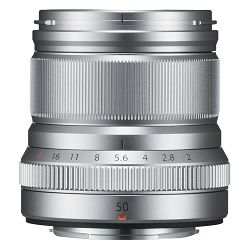FUJI FUJINON XF 50mm F2 R WR fixed, silver