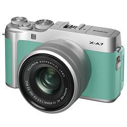 FUJIFILM X-A7 + XC 15-45mm Lens MINT GREEN