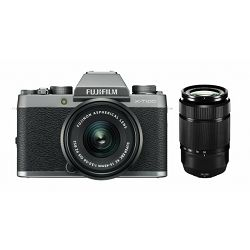 FUJIFILM X-T100 15-45mm + 50-230mm Kit, 24MP APS-C CMOS, 3,0