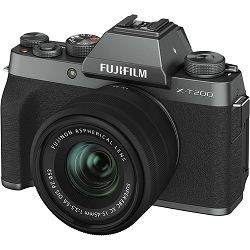 FUJIFILM X-T200 XC 15-45mm F3.5-5.6 OIS PZ DARK SILVER (X-T200 15-45mm Kit Body+lens, 24MP APS-C CMOS , 3,5