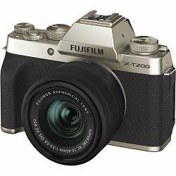 FUJIFILM X-T200 XC 15-45mm F3.5-5.6 OIS PZ CHAMPANGE GOLD  (X-T200 15-45mm Kit Body+lens, 24MP APS-C CMOS , 3,5