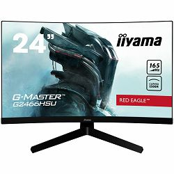 IIYAMA RED EAGLE 23,6G-MASTER G2466HSU-B1 1500R curved VA panel with 165Hz refresh rate, 1ms MPRT and the 1920x1080 resolution guarantees superb image quality. Signal input HDMI x2 DisplayPort x1 US