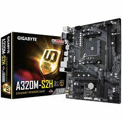 GIGABYTE Main Board Desktop AMD A320 (SAM4, DDR4, LAN, DVI/VGA/HDMI, USB3.1/USB2.0, SATA III,M.2, LAN) mATX Retail