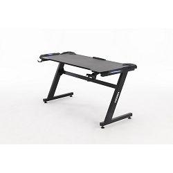 Gaming stol NEON eSports Gamer PRO, LED RGB, držač za čašu, držač za slušalice, 140cm, crni