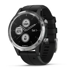 GARMIN Fenix 5 Plus srebrni / crni remen
