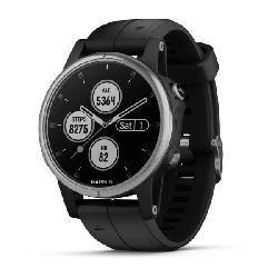 GARMIN Fenix 5S Plus srebrni / crni remen