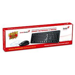 Genius SlimStar 8006, tipkovnica+miš, USB, crna