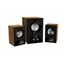 Genius zvučnici SW 2.1 385, drveni, 220V