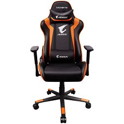GIGABYTE AORUS Gaming Chair AGC300 V2 Black + Orange, headrest & lumbar cushion, 120kg max load
