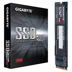 GIGABYTE SSD 128GB, M.2 2280, NVMe 1.3 PCI-Express 3.0 x2, TLC, 1100MBs/500MBs, Retail