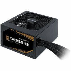 GIGABYTE P650B Power Supply 650W, 80+ Bronze, Japanese capacitors, 120mm smart fan, EU plug
