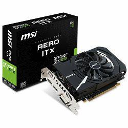 MSI Video Card GeForce GTX 1050 OC GDDR5 2GB/128bit, 1404MHz/7008MHz, PCI-E 3.0 x16, DP, HDMI, DVI-D, Single Torx Fan Cooler (Double Slot), Retail