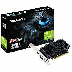 GIGABYTE Video Card NVidia GeForce GT 710 2GB GDDR5 64bit DVI-I / HDMI Low Profile passive sink
