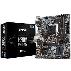 MSI Main Board Desktop H310 (S1151, DDR4, USB3.1, USB2.0, SATA III,M.2, HDMI, DVI-D, VGA - Requires Processor Graphics, 8-Channel(7.1) HD Audio with Audio Boost, Intel I219-V Gigabit LAN) mATX Retail