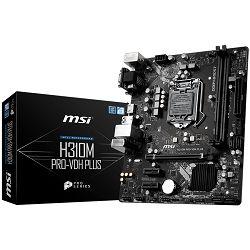 MSI Main Board Desktop H310 (S1151v2, DDR4, USB3.1, USB2.0, SATA III, HDMI, DVI-D, VGA - Requires Processor Graphics, 8-Channel(7.1), Realtek 8111H Gigabit LAN) mATX Retail