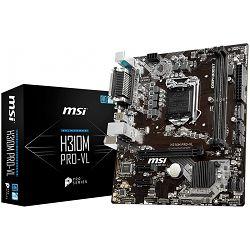 MSI Main Board Desktop H310 (S1151, DDR4, PCI-Ex16, 2xPCI-Ex1, USB3.1, USB2.0, SATA III, VGA, RealtekALC887 Audio, Serial port, Parallel port, GLAN) mATX Retail