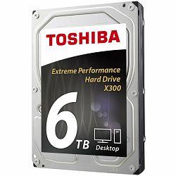 HDD desktop Toshiba X300 (3.5 6TB, 7200RPM, 128MB, NCQ, AF, SATAIII), bulk