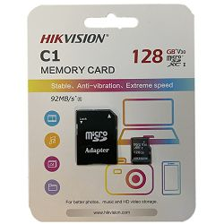 Hikvision microSDHC, Class10, 128GB + SD adapter