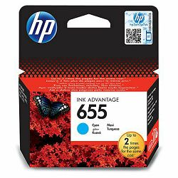 HP 655 Cyan Ink Cartridge, CZ110AE