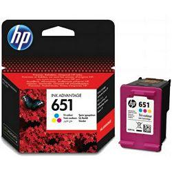 HP 651 Tri-colour Ink Cartridge, C2P11AE