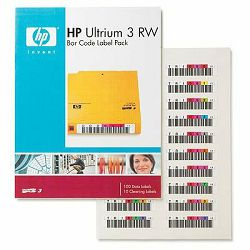 HP LTO3 Ultrium RW Bar Code Label Pack