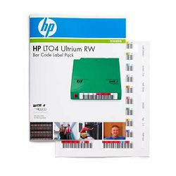 HP LTO4 Ultrium RW Bar Code Label Pack