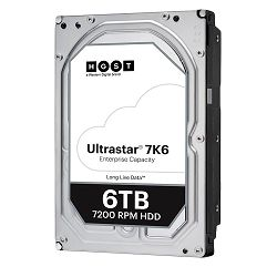 Western Digital Ultrastar DC HDD Server 7K6 (3.5'', 6TB, 256MB, 7200 RPM, SAS 12Gb/s, 512E SE), SKU: 0B36047