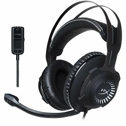 Kingston HyperX Gaming Headset, Cloud Revolver, Gun Metal, 50mm drivers, 3.5mm jack, solid steel frame, Audio control box, headset (1m) + audio control box (2m), EAN: 740617272154