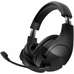 Kingston HyperX Wireless Gaming Headset, Cloud Stinger, black, 17hrs battery life, up to 12m (2.4GHz), 1m USB charge, PC ideally compatible, audio controls, noise-cancellation microphone, PnP, EAN: 74