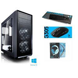 IQ Standard Gaming - AMD Ryzen 3 2200G / 8GB RAM / 240GB SSD / Radeon RX580 / 500W / Windows 10 / Logitech tipkovnica i miš