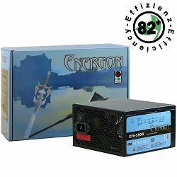 Power Supply INTER-TECH Energon EPS AC 220-240V, 50/60Hz, DC 3.3/5/±12V, 550W, Retail, Active PFC, 1x120, Efficiency 82%