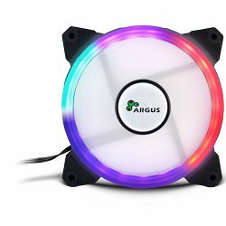 INTER-TECH FAN Argus RS01 RGB, 120mm RGB-fan with 21 Multicore LEDs, 11 airflow optimized fan blades, Smooth operating fluid-bearing, Radio remote control, Retail