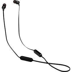 JBL TUNE 125 BT- Lifestyle Headphones - Wireless In-ear - With 3-button mic/remote, flat cable, Black