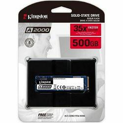 Kingston A2000 NVMe 500GB,R2200/W2000, M.2 2280