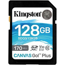 Kingston Canvas Go! Plus SD, R170MB/W90MB, 128GB