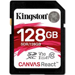 Kingston Canvas React, R100MB/W80MB, 128GB