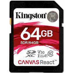 Kingston Canvas React, R100MB/W80MB, 64GB