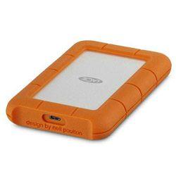 Lacie 1TB Rugged USB-C - Silver/Orange, STFR1000800