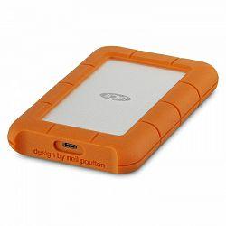 Lacie 2TB Rugged USB-C - Silver/Orange, STFR2000800