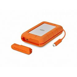 Lacie 5TB Rugged Thunderbolt & USB 3.1 Type C w integrated cable, STFS5000800