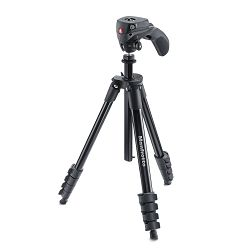 Manfrotto Compact Action stativ sa glavom (Crni), MKCOMPACTACN-BK