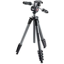 Manfrotto Compact Advanced stativ sa 3-way glavom (crni), MKCOMPACTADV-BK