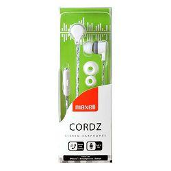 Maxell Cordz slušalice, mikrofon, bijele