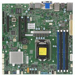 Supermicro main board server MBD-X11SCZ-F-O 3 years warranty, single socket, 4.1 PCI-E 3.0 x16, 2 PCI-E 3.0 x4 (in x8 slot) 1 M.2 M-Key SATA/PCI-E 3.0 x4, Intel C246 controller for 5 SATA3 (6 Gbps) po