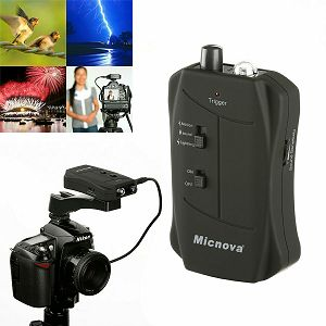 Micnova MQ-VT elektronski okidač za fotoaparat - reagira na bljesak, zvuk i pokret (Nikon, Canon, Sony, Fuji, Olympus)
