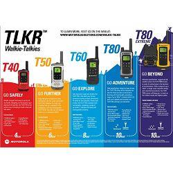 MOTOROLA Walkie Talkie TLKR-T61 (8 kanala, 121 kod, 8km), 2 komada u pakiranju