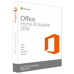 Microsoft Office Home & Student 2016 Cro Medialess